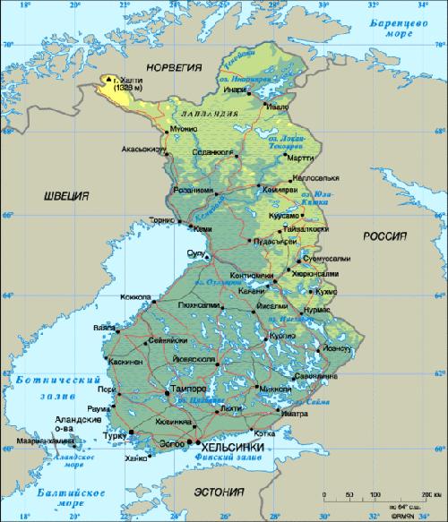 Финляндия сосед России