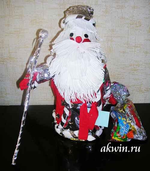 Дед Мороз своими руками из пластиковых бутылок