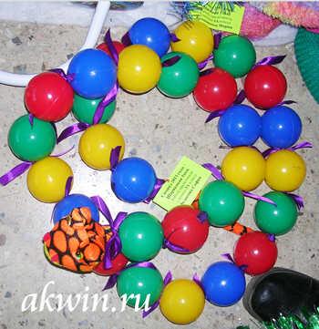 змея из шариков